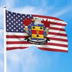 1sttheworld Premium Flag - Champion American Family Crest Flag A7
