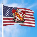 1sttheworld Premium Flag - Norton American Family Crest Flag A7