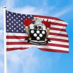 1sttheworld Premium Flag - Bridgman American Family Crest Flag A7