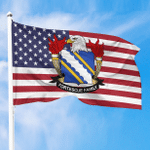1sttheworld Premium Flag - Fortescue American Family Crest Flag A7