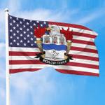 1sttheworld Premium Flag - Bedlow American Family Crest Flag A7