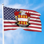 1sttheworld Premium Flag - May American Family Crest Flag A7