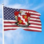 1sttheworld Premium Flag - Walworth American Family Crest Flag A7