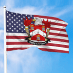 1sttheworld Premium Flag - Priestly American Family Crest Flag A7