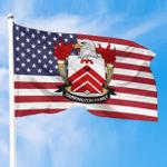 1sttheworld Premium Flag - Barrington American Family Crest Flag A7