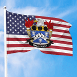 1sttheworld Premium Flag - Wall American Family Crest Flag A7