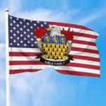 1sttheworld Premium Flag - Lisle American Family Crest Flag A7