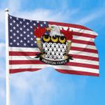 1sttheworld Premium Flag - Preston American Family Crest Flag A7