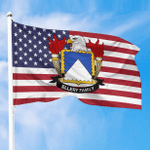 1sttheworld Premium Flag - Ellery American Family Crest Flag A7