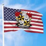 1sttheworld Premium Flag - McEvers American Family Crest Flag A7
