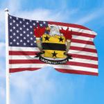 1sttheworld Premium Flag - Havemeyer American Family Crest Flag A7