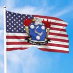 1sttheworld Premium Flag - Wendell American Family Crest Flag A7