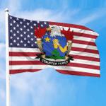 1sttheworld Premium Flag - Stauffer American Family Crest Flag A7