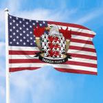 1sttheworld Premium Flag - Tasker American Family Crest Flag A7
