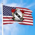 1sttheworld Premium Flag - Barradall American Family Crest Flag A7