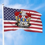 1sttheworld Premium Flag - Rathbone American Family Crest Flag A7