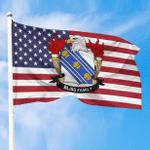 1sttheworld Premium Flag - Bliss American Family Crest Flag A7