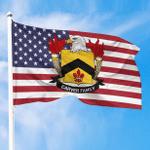 1sttheworld Premium Flag - Carver American Family Crest Flag A7
