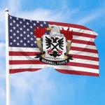 1sttheworld Premium Flag - Maxwell-II American Family Crest Flag A7