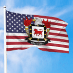 1sttheworld Premium Flag - Cole American Family Crest Flag A7