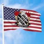 1sttheworld Premium Flag - Penrose American Family Crest Flag A7