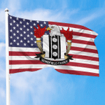 1sttheworld Premium Flag - Schofield American Family Crest Flag A7