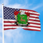1sttheworld Premium Flag - Parry American Family Crest Flag A7