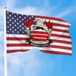 1sttheworld Premium Flag - Skipwith American Family Crest Flag A7
