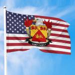 1sttheworld Premium Flag - Lunt American Family Crest Flag A7