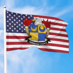 1sttheworld Premium Flag - Farnham American Family Crest Flag A7