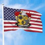 1sttheworld Premium Flag - Simmons American Family Crest Flag A7