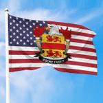 1sttheworld Premium Flag - Cooke American Family Crest Flag A7
