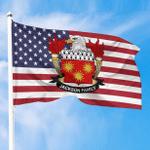 1sttheworld Premium Flag - Jackson American Family Crest Flag A7
