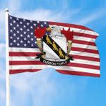 1sttheworld Premium Flag - Curson American Family Crest Flag A7