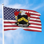1sttheworld Premium Flag - Broome American Family Crest Flag A7