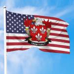 1sttheworld Premium Flag - Cram American Family Crest Flag A7