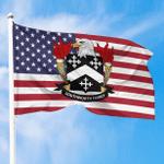 1sttheworld Premium Flag - Southworth American Family Crest Flag A7