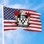 1sttheworld Premium Flag - Jeffery American Family Crest Flag A7