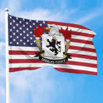 1sttheworld Premium Flag - Diggles American Family Crest Flag A7