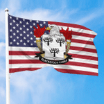 1sttheworld Premium Flag - Blackstock American Family Crest Flag A7