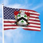 1sttheworld Premium Flag - Underhill American Family Crest Flag A7