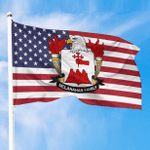 1sttheworld Premium Flag - McLanahan American Family Crest Flag A7