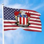 1sttheworld Premium Flag - Fendell American Family Crest Flag A7