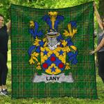 1sttheworld Premium Quilt - Lany Or Laney Irish Family Crest Quilt - Irish National Tartan A7