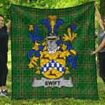 1sttheworld Premium Quilt - Swift Irish Family Crest Quilt - Irish National Tartan A7