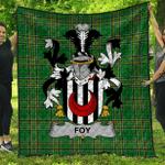 1sttheworld Premium Quilt - Foy Or O'Fie Irish Family Crest Quilt - Irish National Tartan A7
