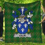 1sttheworld Premium Quilt - Lillie Or Maclilly Irish Family Crest Quilt - Irish National Tartan A7