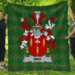 1sttheworld Premium Quilt - Way Irish Family Crest Quilt - Irish National Tartan A7