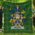 1sttheworld Premium Quilt - Reeves Irish Family Crest Quilt - Irish National Tartan A7