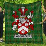 1sttheworld Premium Quilt - Woodroffe Irish Family Crest Quilt - Irish National Tartan A7